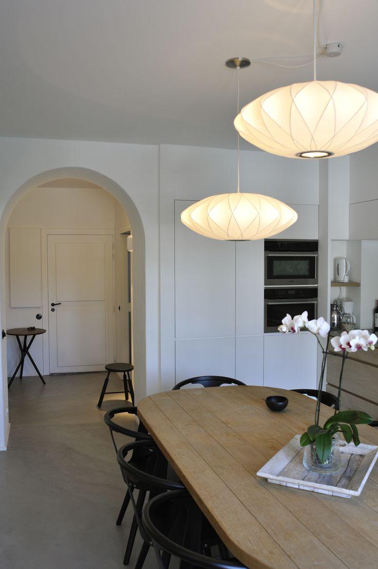Sol En Béton Ciré, Maison Particulière, Knokke, Belgique