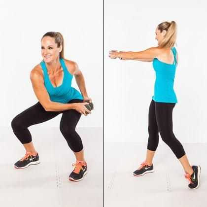 The waist-slimming squat