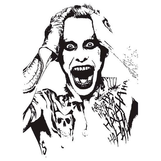 Jared Leto joker stencil
