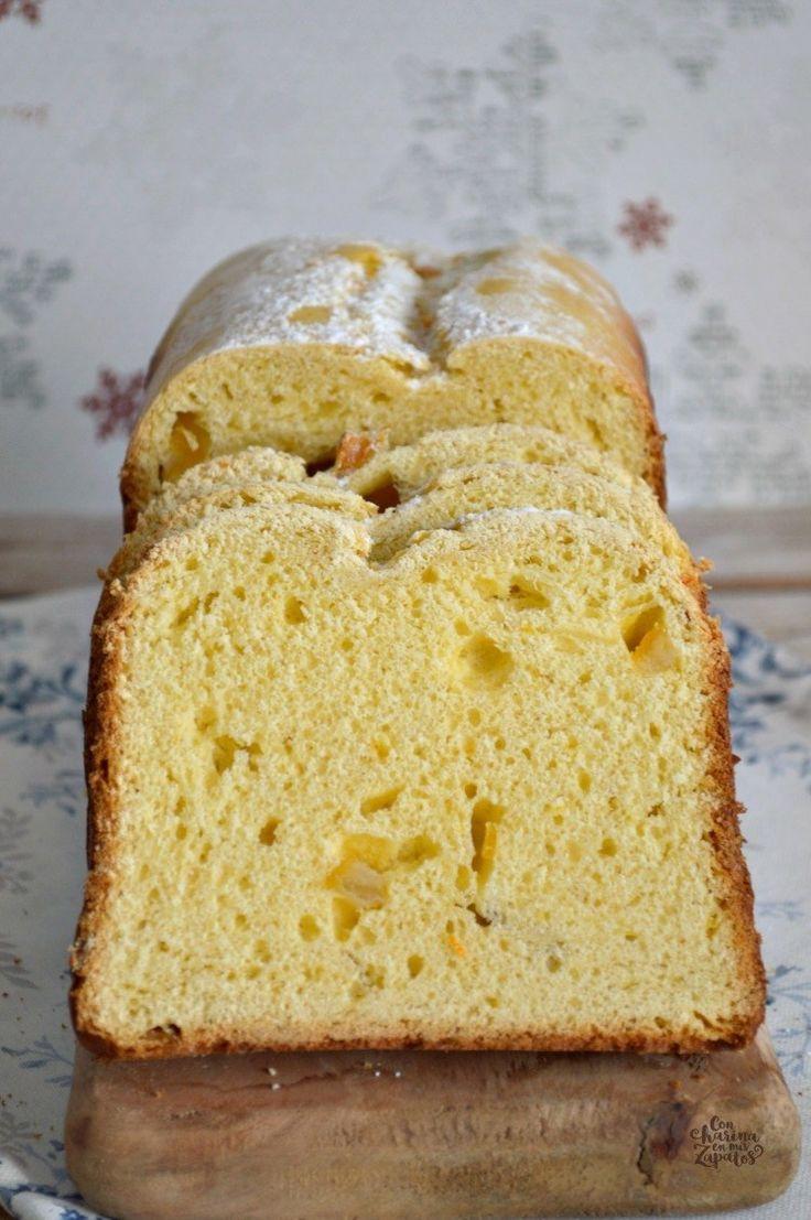 Pan dulce de narnaja confitada (en panificadora)
