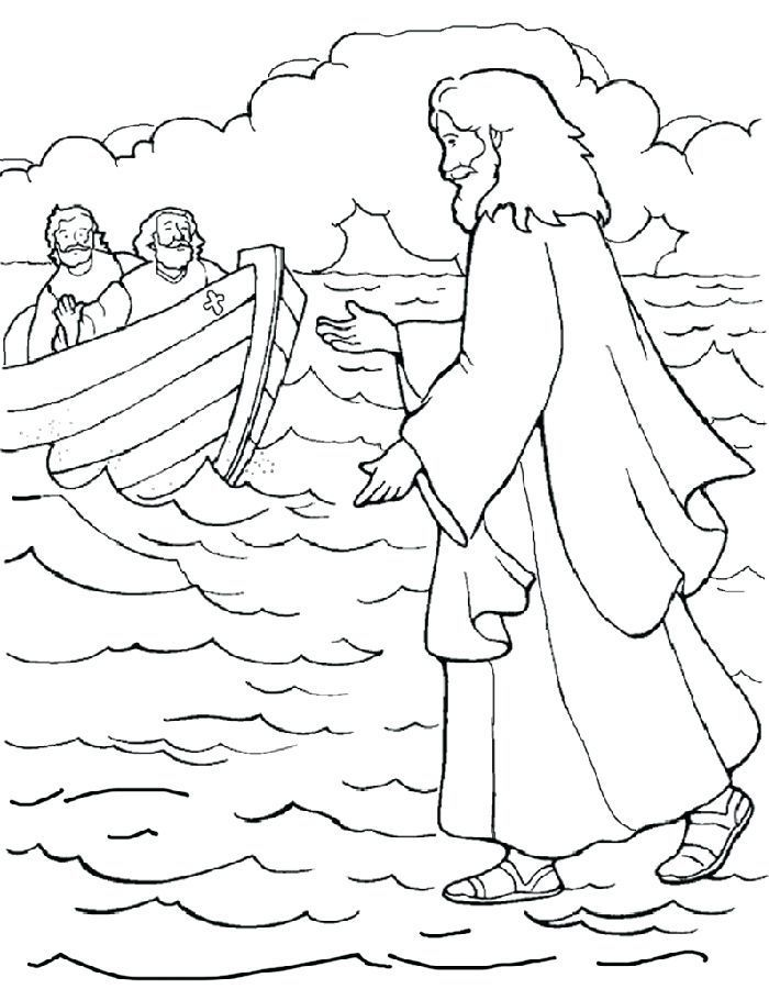 Water Coloring Pages Jesus Walks On Water Coloring Page Free Sunday School Coloring Pages Jesus Coloring Pages Bible Coloring Pages