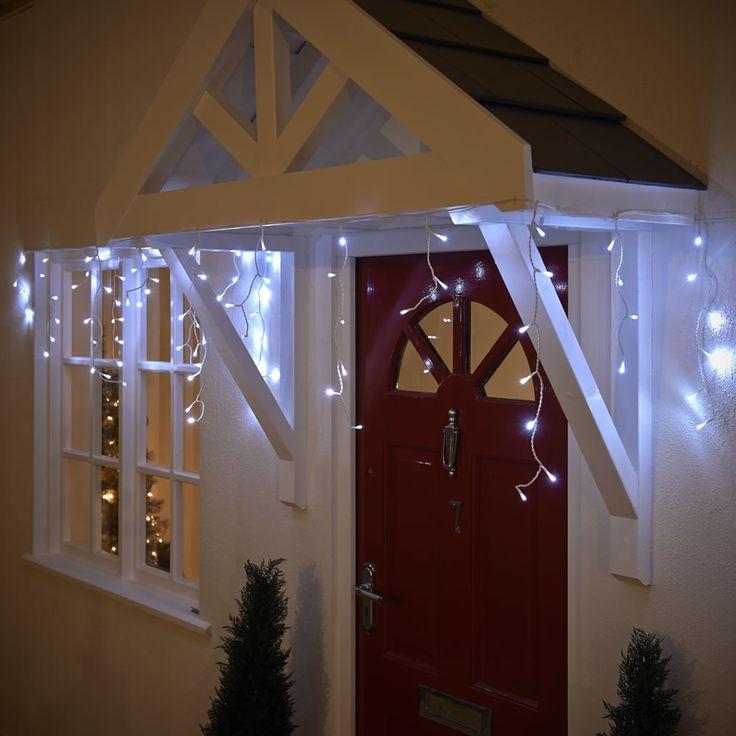 Wilko Icicle Christmas LED Lights Hanging White x 120