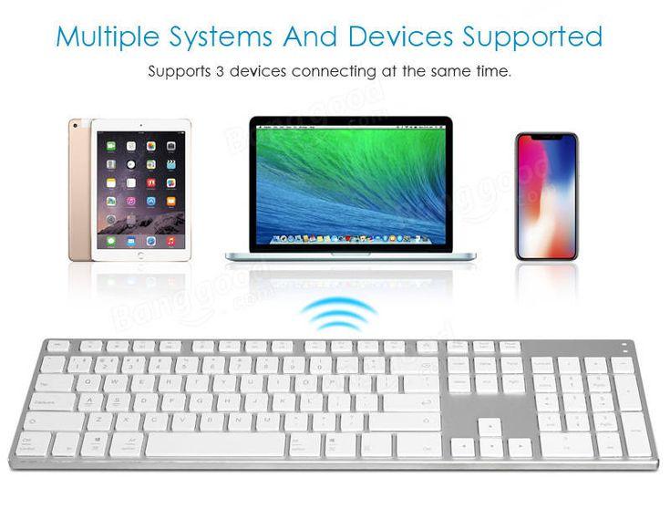 AJazz AK3.3 105 Key Bluetooth Wireless Keyboard All-Metal Ultra-Thin Keyboard for Pads Phones