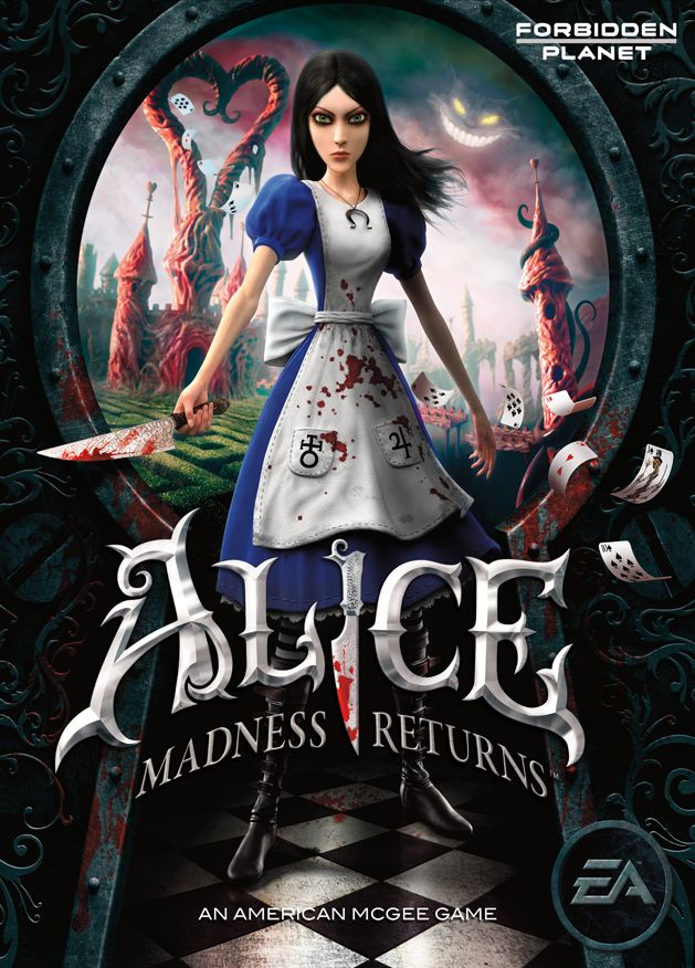 Alice Madness Returns promotional poster for Forbidden Planet.