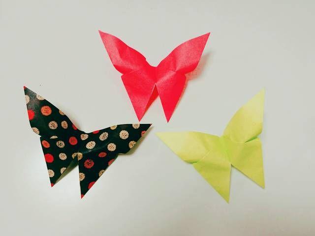 立体的な ちょうちょ を折り紙で作ろう 簡単 かわいい作り方 Chiik ちょうちょ 折り紙 折り紙 蝶々 折り紙 蝶