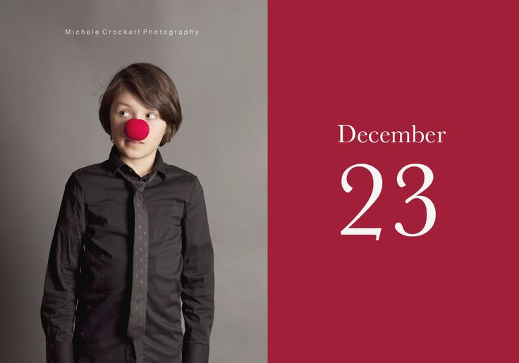 Dec 23- Liam.  www.michelecrockettphotography.com #christmascountdown, #childrenchrismasideas, #rednose, #kidsphotoideas, #studiolighting