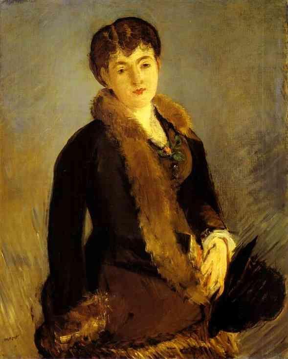 Portrait Of Mlle Isabelle Lemonnier by Édouard Manet