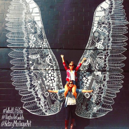 The Instagrammers Guide To Nashville, TN | Best Photo-Ops and Street Art In Nashville | The Gulch Wings Mural