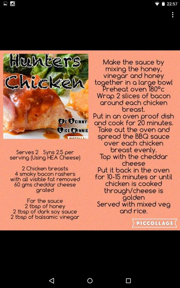 25 Best Ideas About Hunters Chicken On Pinterest Slimming World Hunters Chicken Slimming