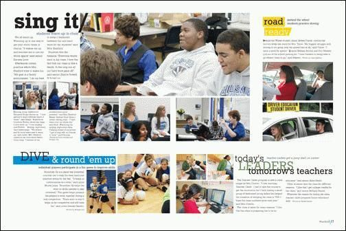 yearbook spread- great example of covering multiple different events on one spread