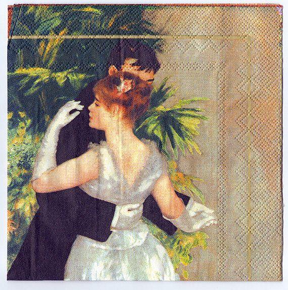Impressionist Decoupage Napkins  Pierre-Auguste Renoir's