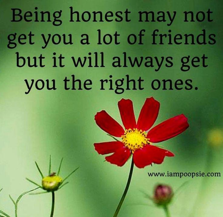 Being honest quote via www.IamPoopsie.com