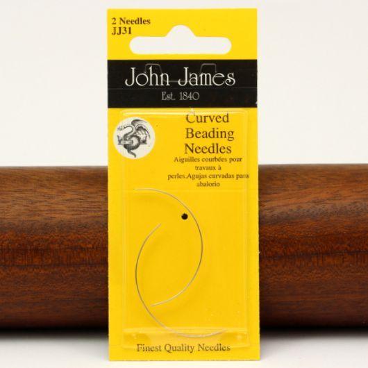 Igły do koralików John James-D półokrągłe