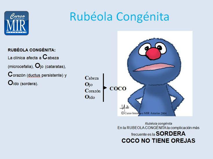 #ReglasNemotecnicas - Rubéola Congénita - #Pediatría