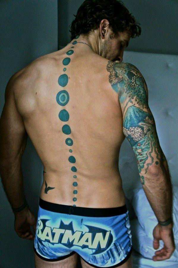 Strong incrível tatuagem dos homens azuis