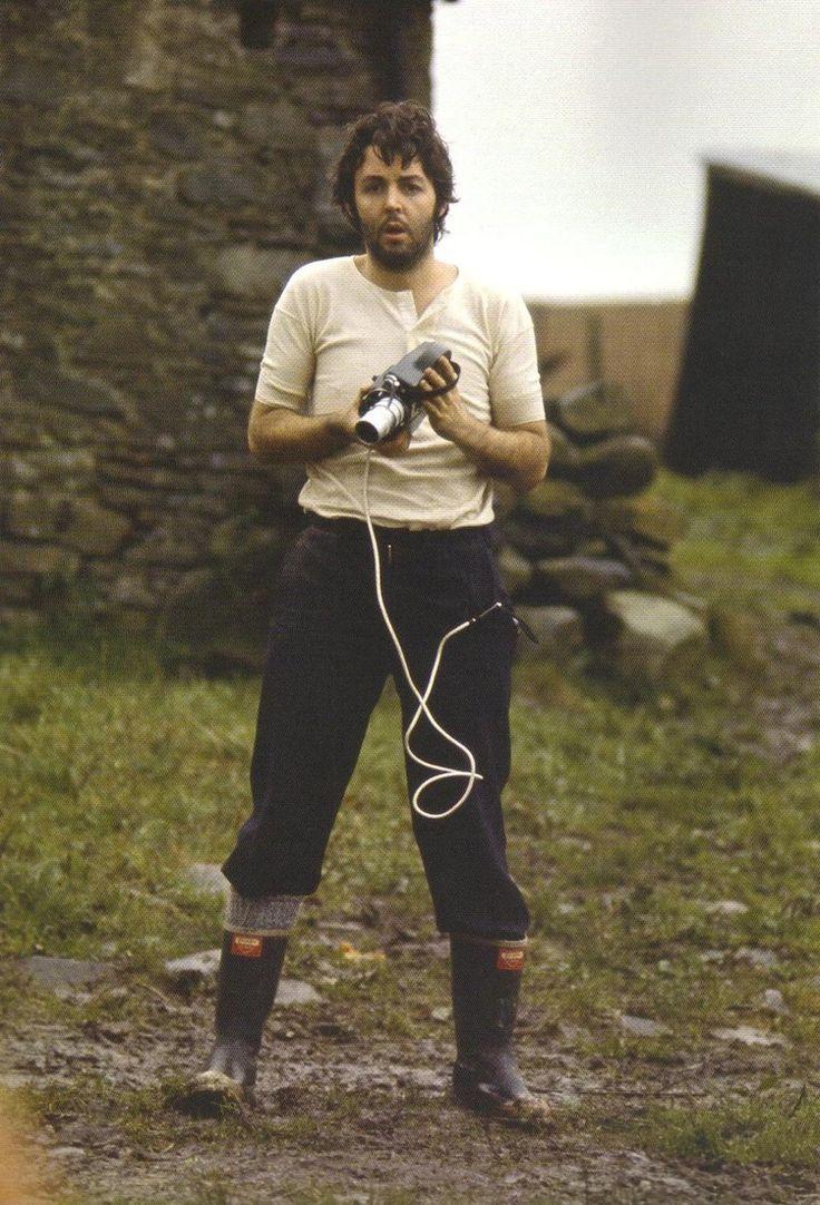 Paul McCartney on his Scottish farm, 1969. | Oh! Darling ...