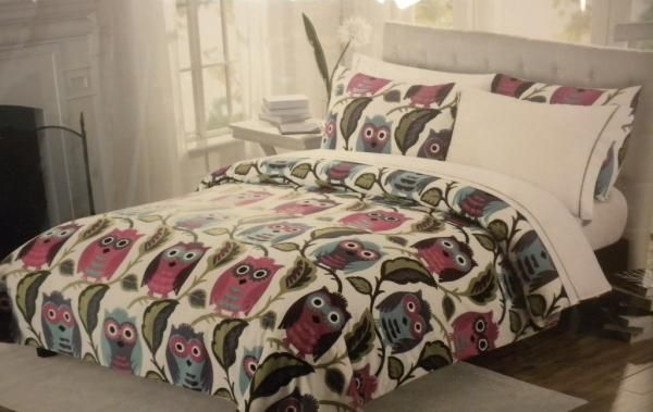 Cynthia Rowley Twin Xl 5 Pc Comforter Set Sheets Owls Dorm