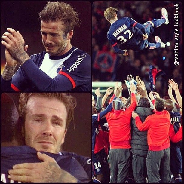 Aww.. David Beckham beaks down in tears during his final match , bids farewell to Paris St Germain & heads into retirement#davidbeckham #victoriabeckham #football #soccer #sports #england #paris #ootd #life #lookbook #lookbooknu #fashion #style #handsome #fashionista #fashionicon #style #stylish #styleicon #instafashion #instastyle #pink #heels #shoes #neon #mint #celebrity #streetfashion #streetstyle #beautiful... - Celebrity Fashion