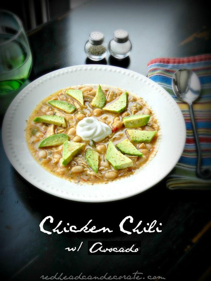 Chicken Chili made with Greek Yogurt. Yum!