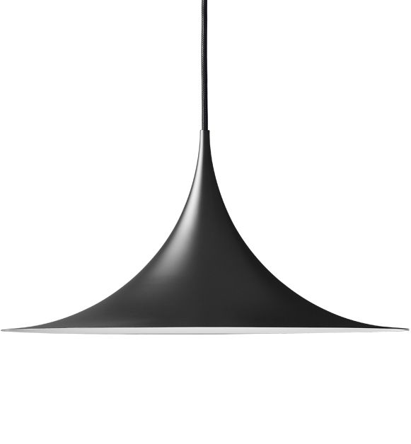 The Semi lamp was designed in 1968 as a product of the creative partnership between two architecture students, Claus Bonderup and Torsten Thorup. Reacting against the 'cosy era' that was dominating Denmark at the time, Bonderup and Thorup wanted to create a lamp that incorporated sharp, clean lines and a geometric shape. Their design was submitted for a competition at the Royal Danish Academy of Fine Arts School of Architecture and won first prize.
