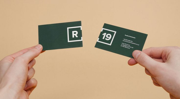 R19 business card