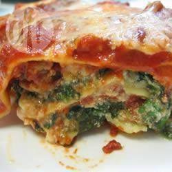 Lasagne met Italiaanse worst @ allrecipes.nl