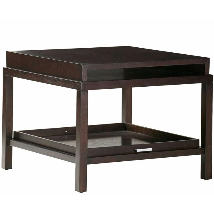 Spats 1-Drawer Square End Table in Espresso Finish by Allan Copley Designs