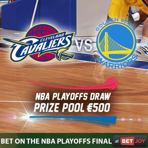 The first game of the NBA Playoffs final between the Cleveland Cavaliers and the Golden State Warriors starts today. Have a bet on the game and whether you win or lose you could win a share of €500 in free bets!http://bit.ly/2rTXAZI #onlinecasinog #sportsbook #NBA