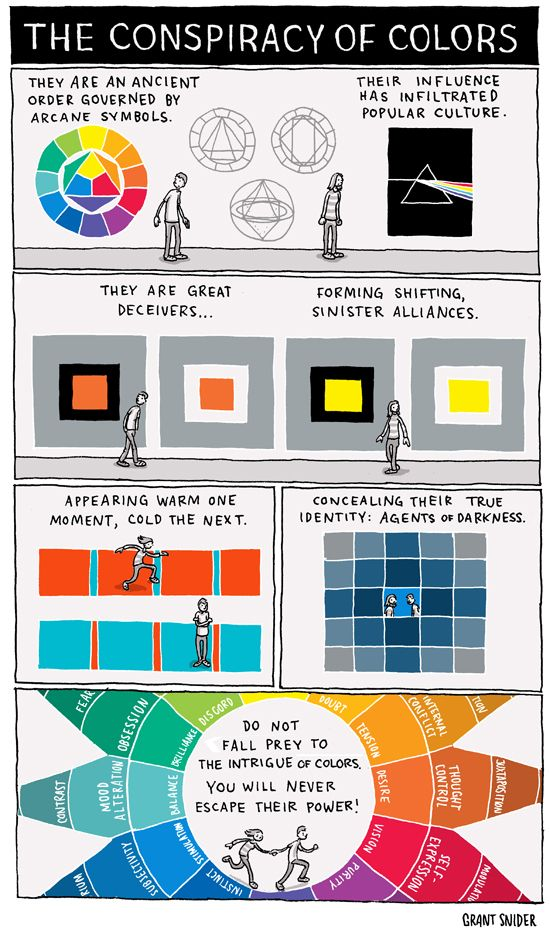 HANDOUT: Intro to a unit on color, Created by Grant Snider