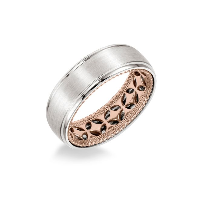 74 engagement ring inside wedding band brown and