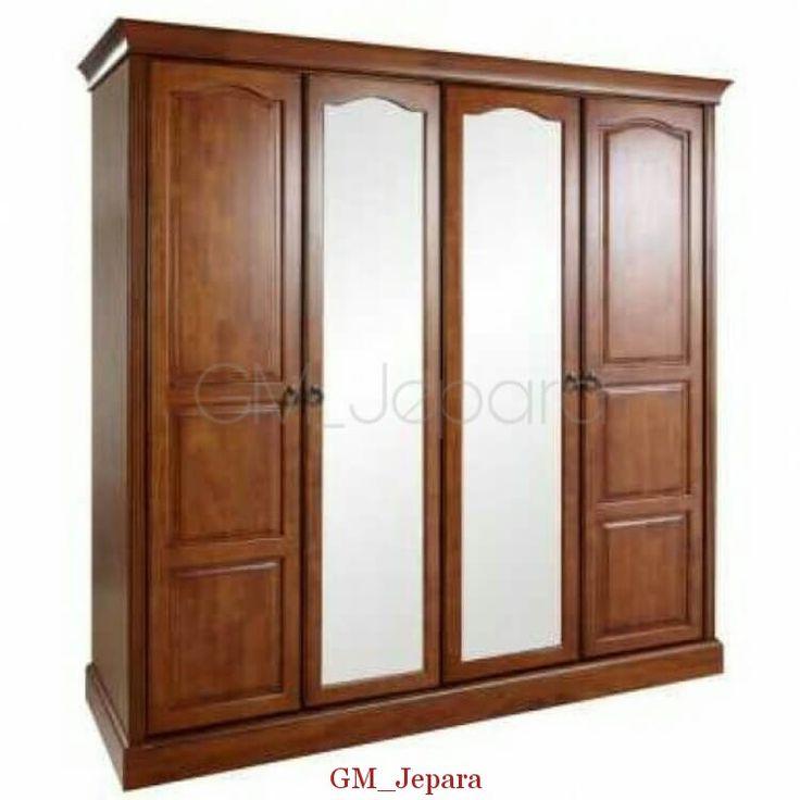 Lemari Pakaian 4 Pintu Kombinasi Kaca, model lemari pakaian terbaru, jual lemari pakaian, lemari pakaian anak, lemari jati minimalis.
