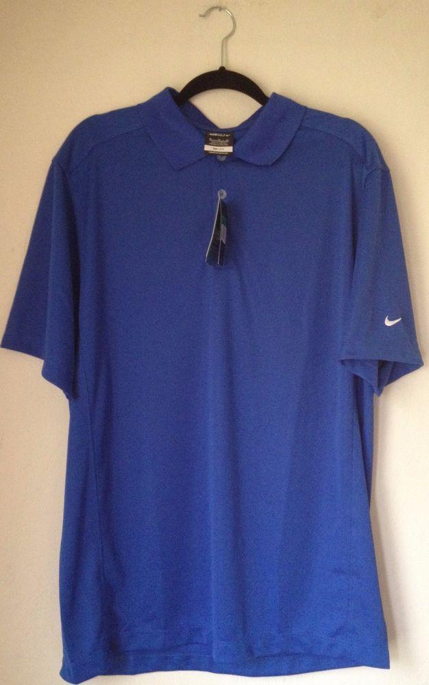 NEW Nike Golf Dri-Fit Polo Shirt  Mens  Sports Polo Shirt blue  XL #NikeGolf #PoloTShirt