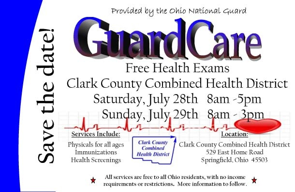 FREE FOR ALL OHIO RESIDENTS:  Includes:   Physicals for all ages,  Immunizations,  Vision and Hearing, Mammograms (TBD),  EKG, Full Lab work as needed,  HIV/Chlamydia/Gonorrhea  Pap Smear testing,  PSA screening, and  Dental Screening