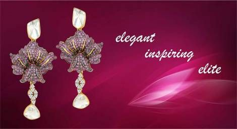 Dazzling earrings for those special occasions! #Diamond #Polki #Jaipur #Jewelry