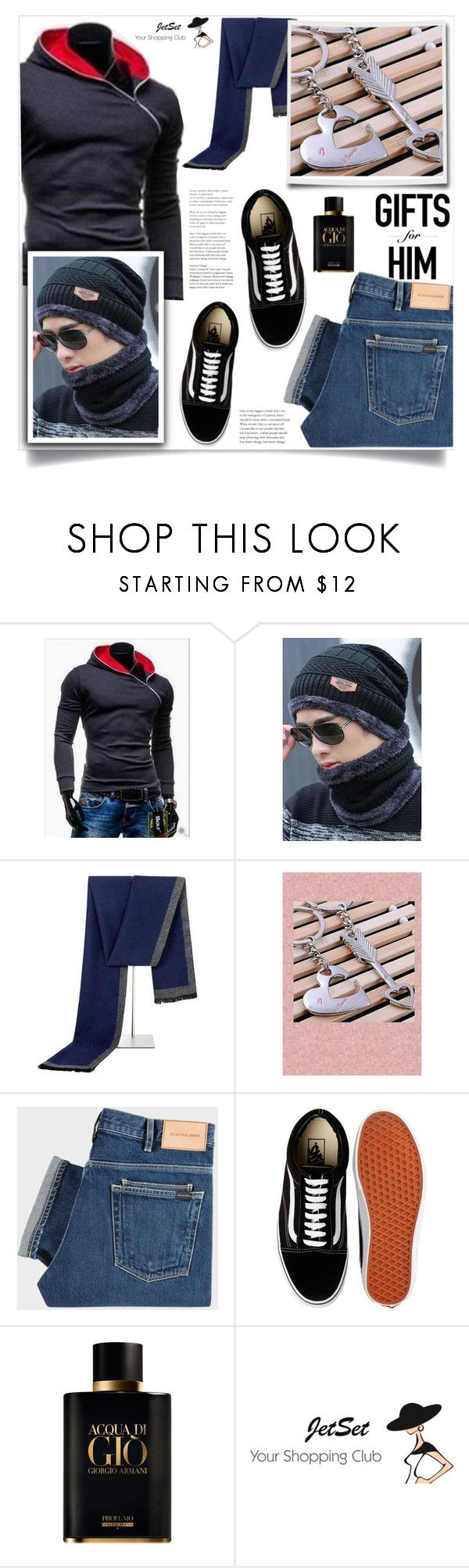 """Valentine's gift ideas, Jet Set Shop!"" by samra-bv ❤ liked on Polyvore featuring PS Paul Smith, Vans, Giorgio Armani, Carbotti, men's fashion, menswear, Fall, Winter, bag and autumn"