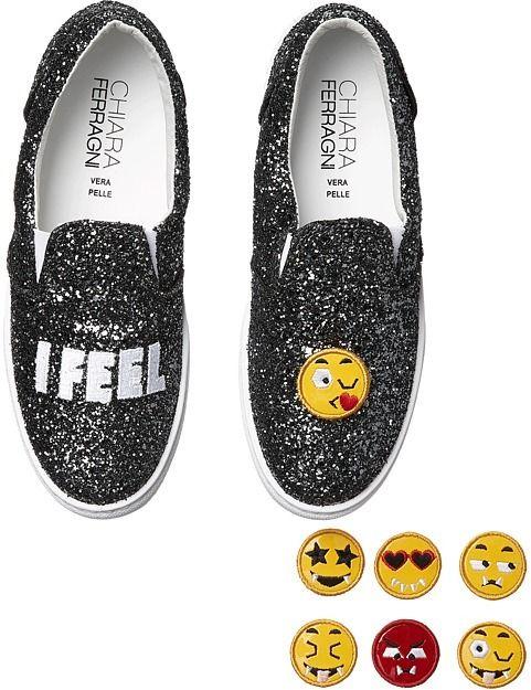 Chiara Ferragni Sparkle Emoji Slip-On Sneaker #emoji