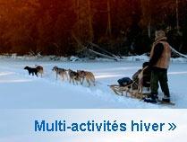 Forfaits Multi-activité hiver disponibles chez Hôtellerie Champêtre