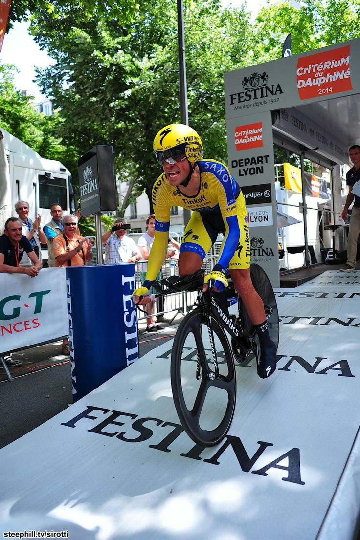 2014 criterium-du-dauphine-libere photos stage-01 - Alberto Contador (Tinkoff - Saxo), was second last man down the ramp and second on the day