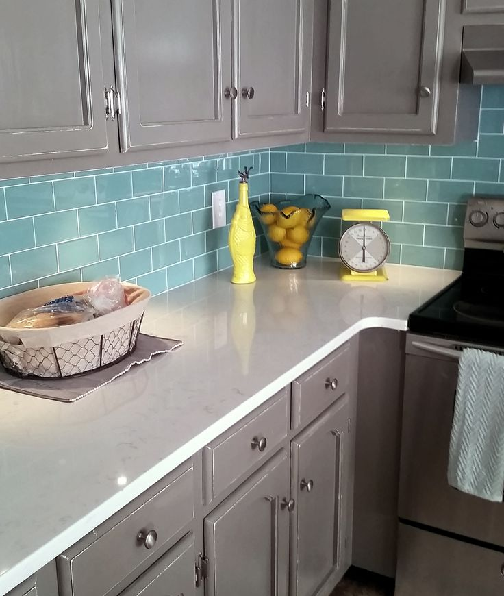 Best Glass Tile Kitchen Backsplash Ideas On Pinterest Glass