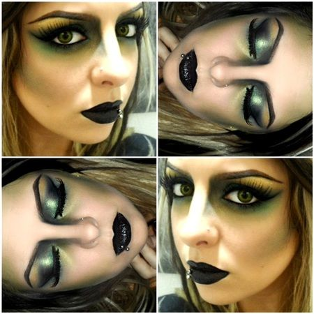 Wicked Witch http://www.makeupbee.com/look.php?look_id=66579