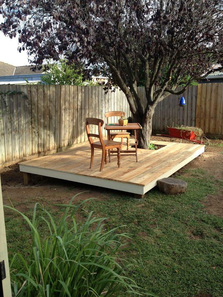 Reclaimed Timber Pallet Deck Pallet Work Pinterest