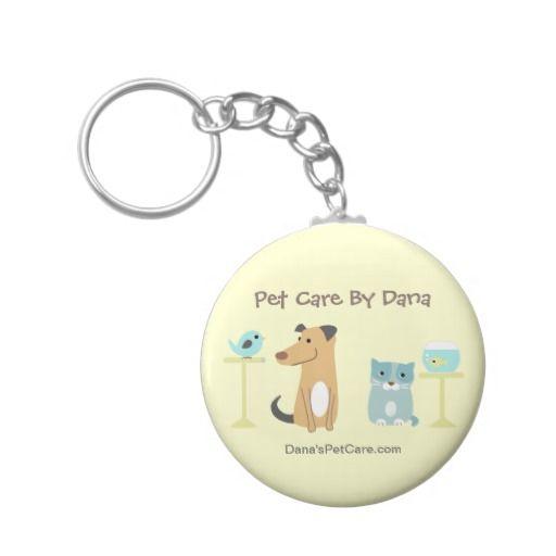 Pet Sitter's Promotional Keyring Basic Round Button Keychain