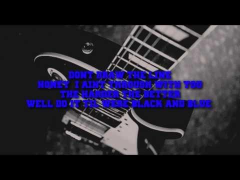 Van Halen - Black and Blue (Lyrics) - YouTube
