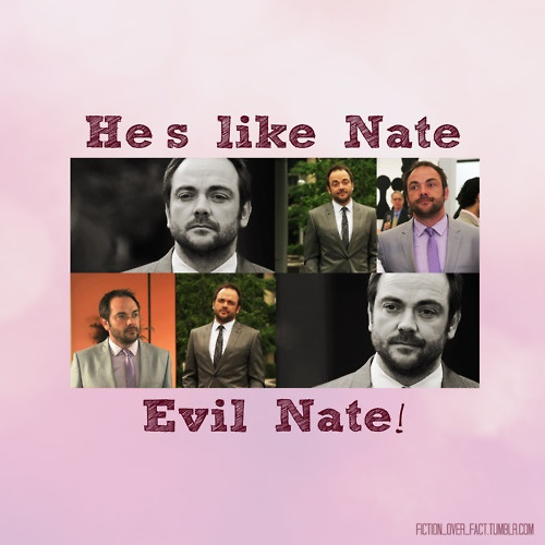 Or is that Nate is Evil Sterling?  Nate is the thief, after all...