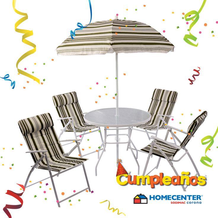 Decora tu terraza con lo último en muebles para exteriores, encuéntralos solo en #CumpleañosHomecenter.