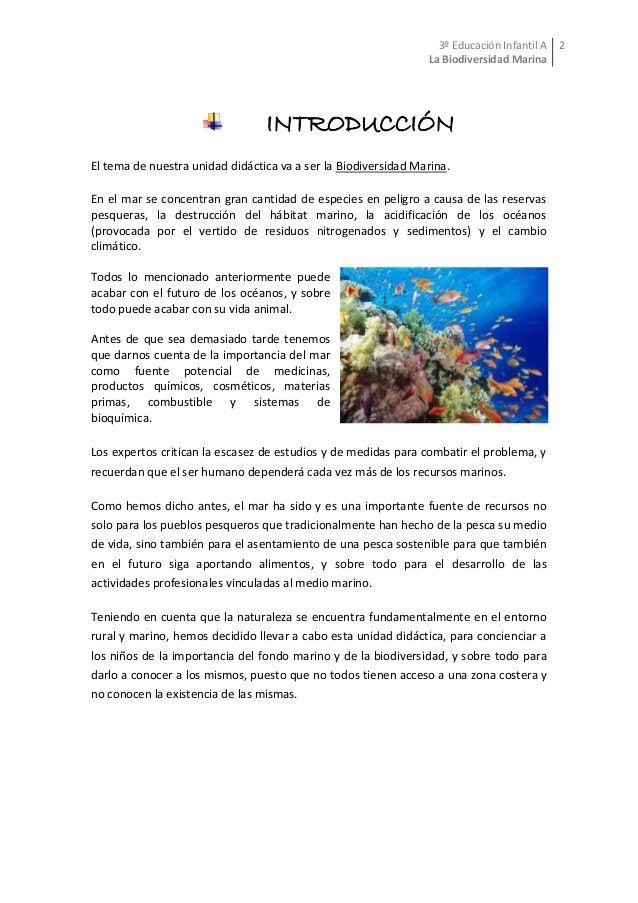 Unidad Didáctica La Biodiversidad Marina