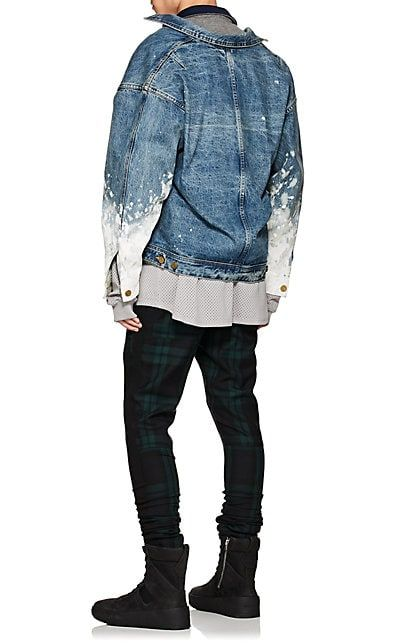 60ee075a2df FEAR OF GOD Paint-Splattered Denim Jacket - Coats - 505364656