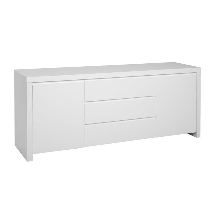 Buffet laqu blanc blanc valia les buffets buffets for Meuble de salon blanc laque