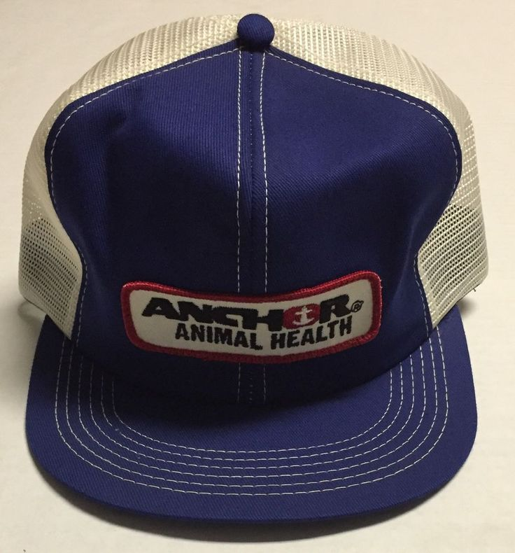 Vtg Anchor Animal Health Trucker Hat Veterinarian Pet Supplies Cap Blue White  | eBay #anchoranimalhealth #anchor #animalhealth #animal #health #veterinarian #vet #veterinary #medical #medicine #vtg #pet #supplies #truckerhat #trucker #hat #cap
