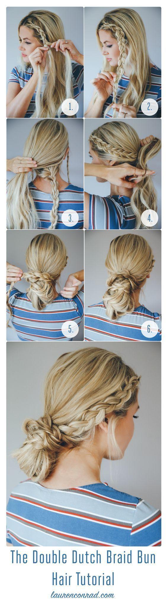 Double Dutch Braided Bun hairstyles